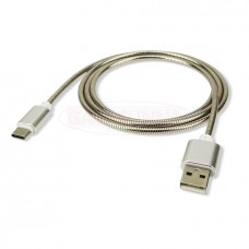 Metal Spring Type C To USB Data Cable For Samsung