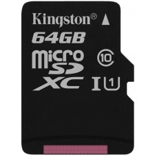 KINGSTON 64GB MICROSDXC CANVAS SELECT 80R CL10 UHS-I